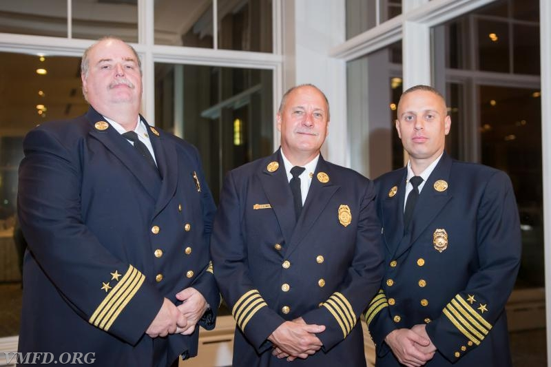 Left to Right  Asst. Chief Peter Primrose Chief Tracey Schmaling Asst. Chief Vincent Costa