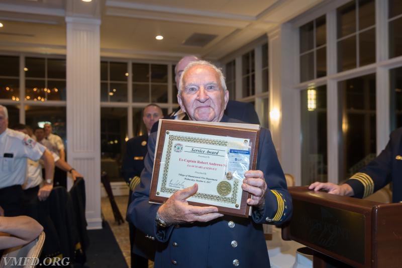 60 Year Member Robert Andrews Sr of Volunteer Engine & Hose Co # 3