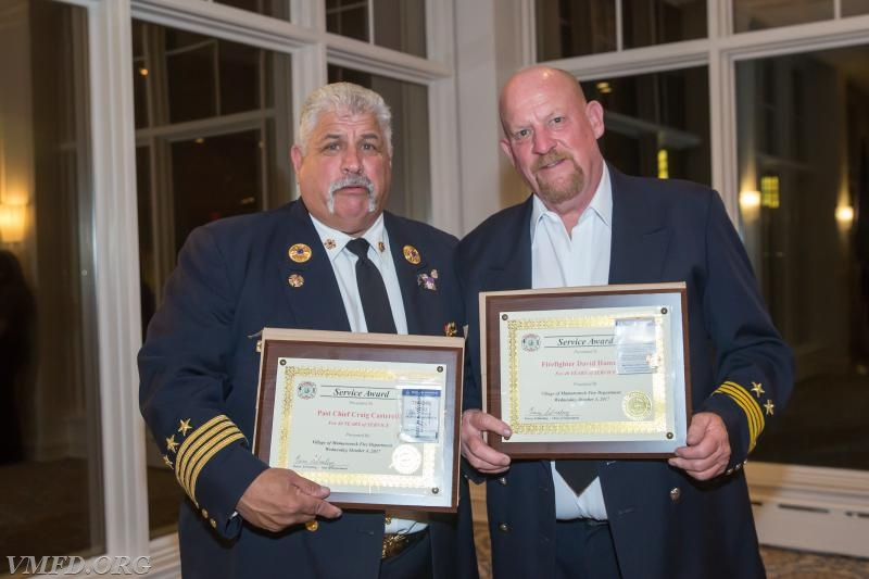 40 Year Members Left to Right  Past Chief Craig Casterella Firefighter David Hammond Volunteer Engine & Hose Co. # 3